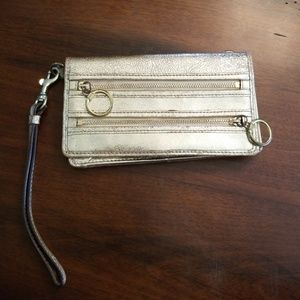 Coach gold wallet/wristlet USED